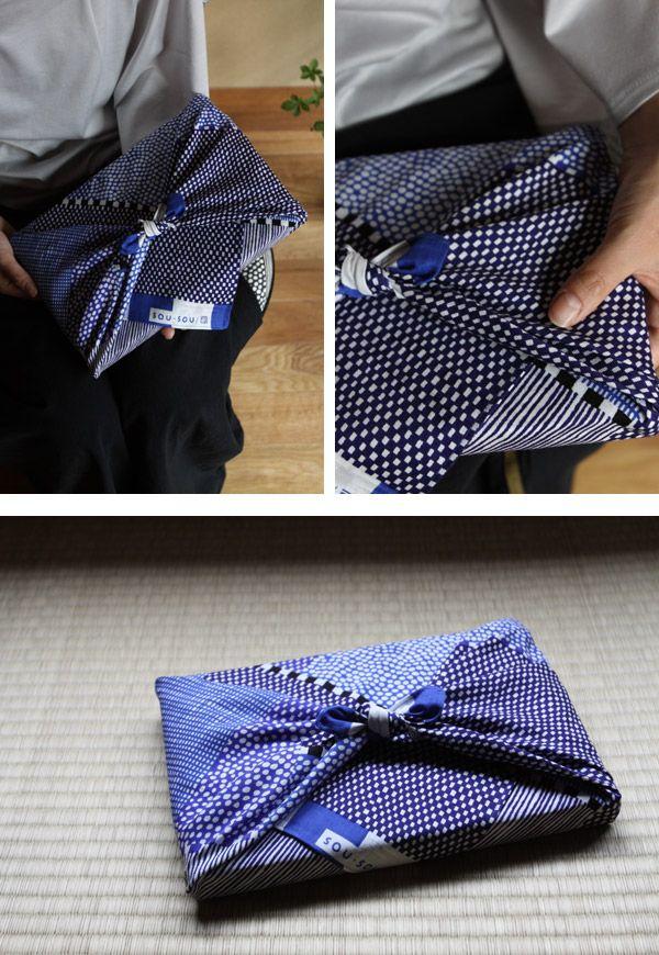 風呂敷(小) 間がさね 青和 - SOU・SOU netshop (ソウソウ) - 『新しい日本文化の創造』をコンセプトにオリジナルテキスタイルを作成し、地下足袋やSOU・SOU流の和装、手ぬぐい・袋もの・家具等を製作、販売する京都のブランド、SOU・SOU(ソウ・ソウ)です。