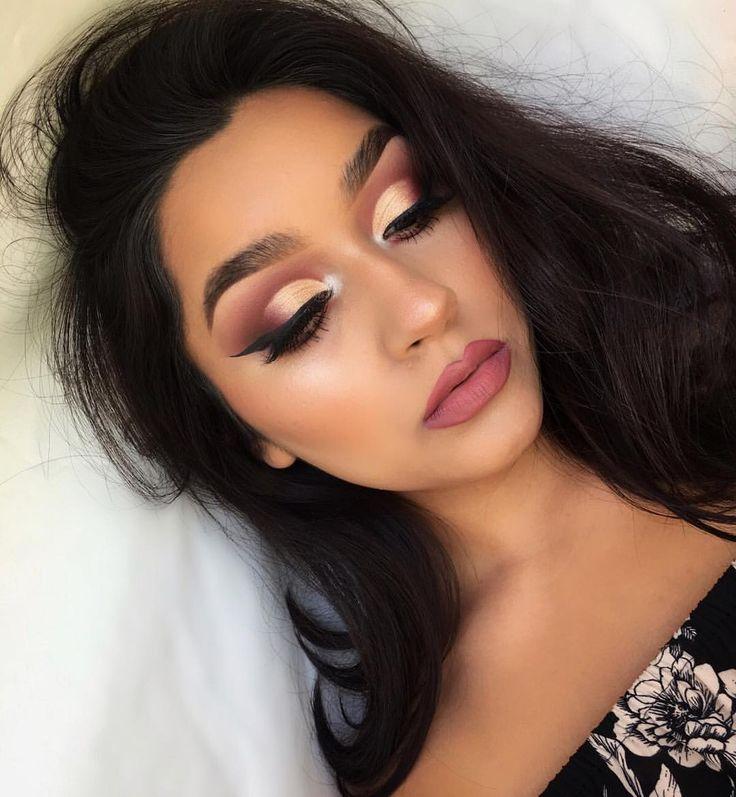 @anastasiabeverlyhills modern renaissance makeup gold and pink eyeshadow cut crease IG: @Vmariexoxo_