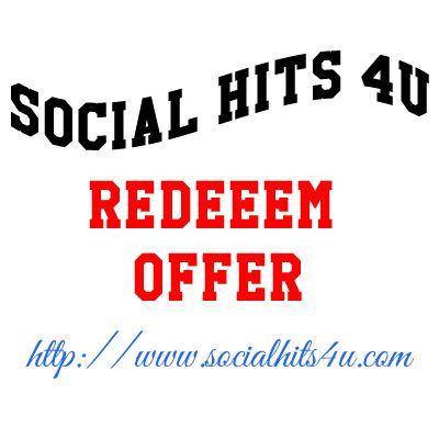 Social Hits 4u is a Social Exchange Website that helps you get Free Facebook Likes, Twitter Followers, Twitter Tweets, Youtube Likes, Youtube Views, Youtube Subscribers, Google +1, Digg Followers, Linkedin Shares, StumbleUpon Followers and Traffic Exchange...