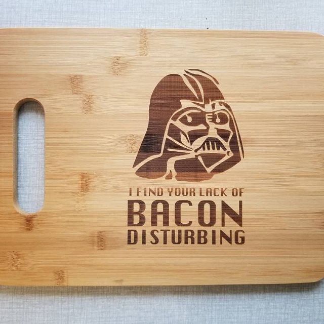 Engraved Handmade Star Wars Darth Vader Cutting Board for the Kitchen