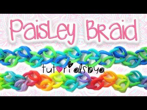 NEW Paisley Braid Rainbow Loom / Monster Tail Bracelet Tutorial | How To - http://rainbowloomsale.com/new-paisley-braid-rainbow-loom-monster-tail-bracelet-tutorial-how-to/