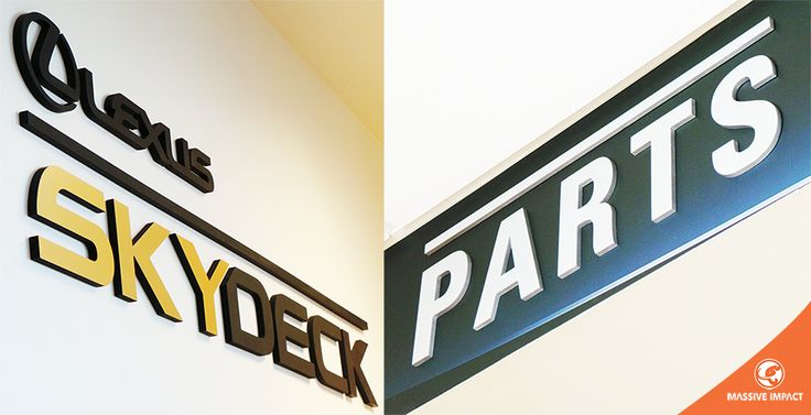 MASSIVE IMPACT laser cut dimensional signs in #Calgary and #Edmonton.