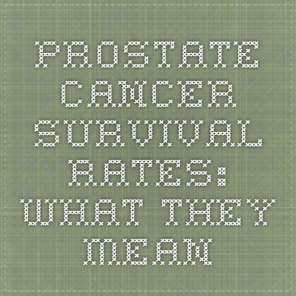 Prostate Cancer Survival Rates: What They Mean