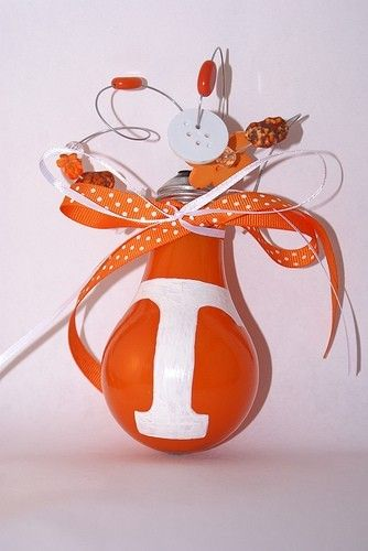 Could make a WVU ornament using Gold/Blue embellishments and paint.  CHRISTMAS GIFT!     University of Tennessee Power T Volunteers Holiday by enoreelapo