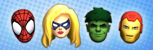 """Download Super Hero Squad Online Halloween masks! There's Hulk, Iron Man, Spider-Man and Ms. Marvel!  The folks at Super Hero Squad Online say:    """"Simply download the file, print onto cardstock and cut out. So easy!  You can secure the mask with string, ribbon or mount it onto a popsicle  stick for the 'peek-a-boo' effect. Come one, come all and be the first  of your friends to rock the Super Hero Squad Online face masks! Time to  Hero Up!"""""""