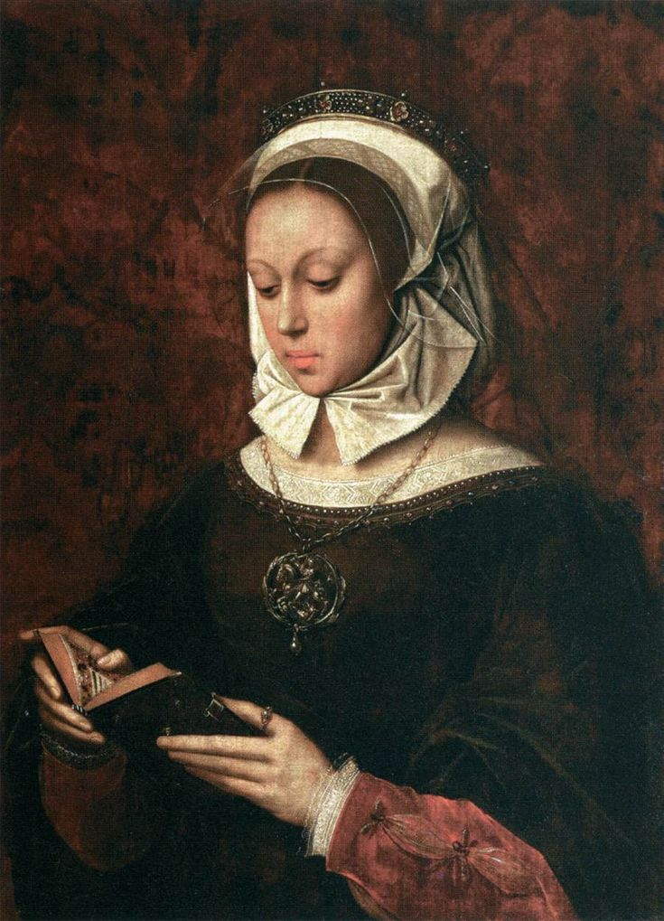 Young Woman in Orison Reading a Book of Hours, Ambrosius Benson, 1520, oil on panel