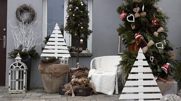 Taras -Grudzień  Dekoracje świąteczne na taras