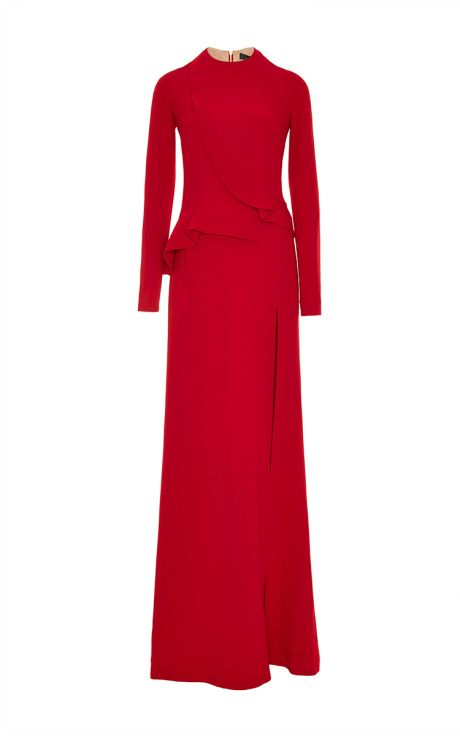 Elie Saab Pre-Fall 2015 - Stretch Cady Gown by for Preorder on Moda Operandi