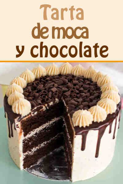 Tarta de moca y chocolate