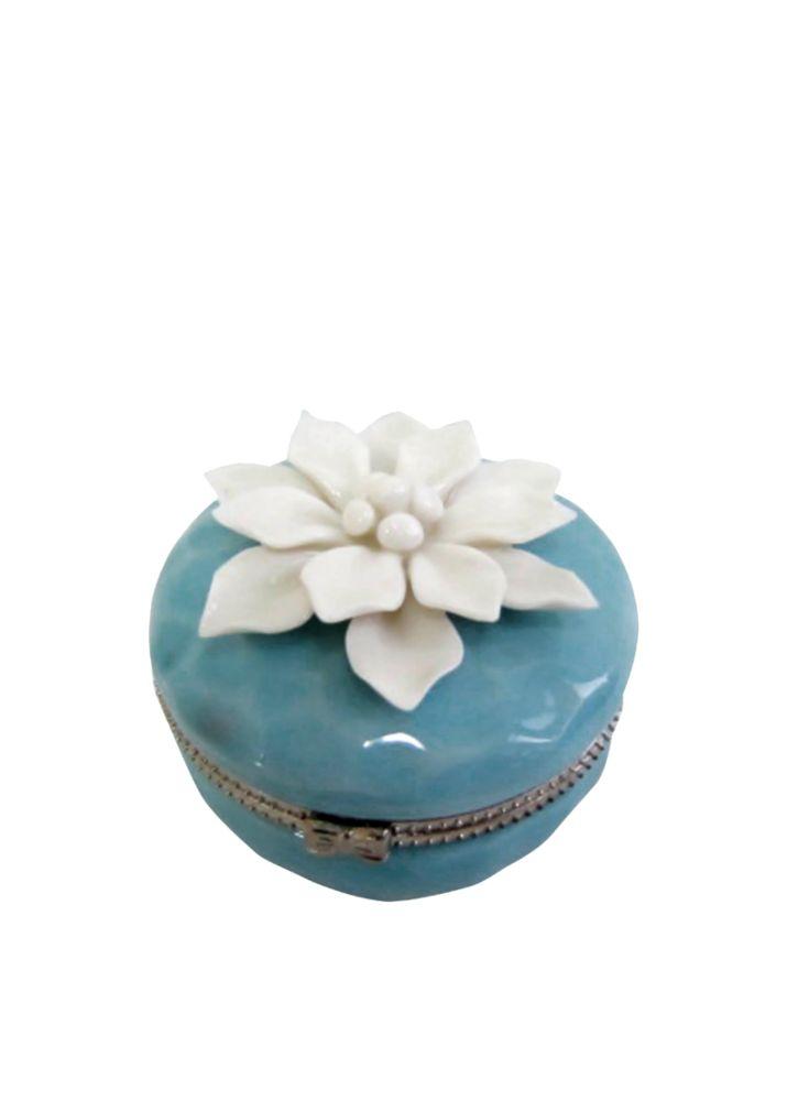A Loja do Gato Preto | Caixa Azul Flor Branca #alojadogatopreto