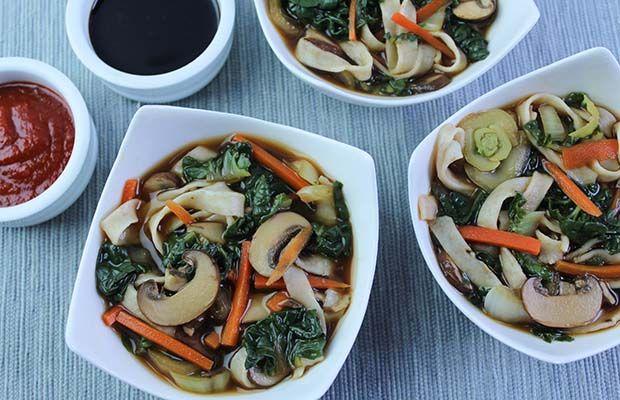 Flax noodle Miso Soup