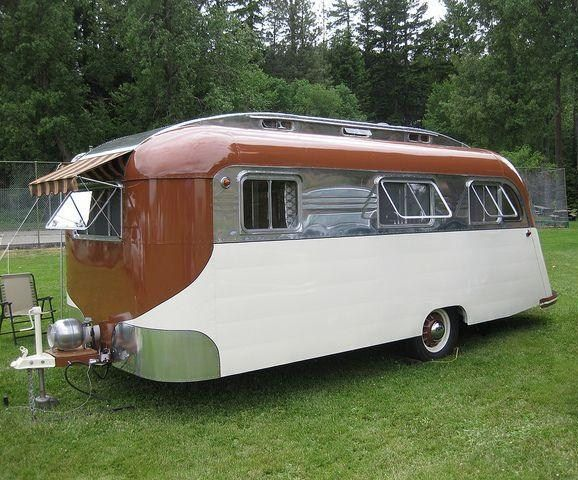 Vintage Westcraft travel trailer.