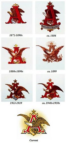 Anheuser Busch staying very consistent to their logo or main brand image for nearly 150 years. Good on them.