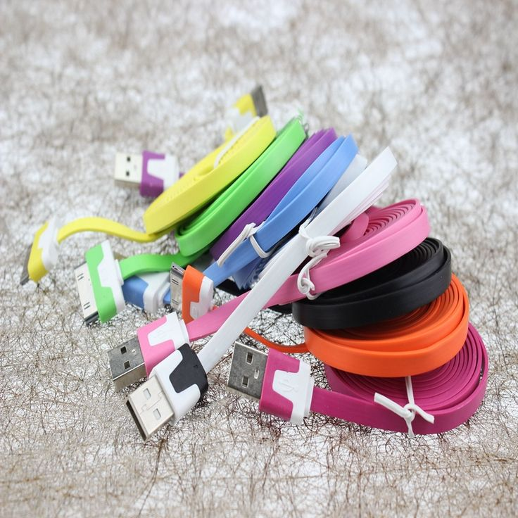 ==> [Free Shipping] Buy Best WEMECOFA 1000pcs New Arrival colorful flat noodle usb sync charger/data cable for iphone4 4s 3gs for ipad 2 3 for iPod wholesale Online with LOWEST Price | 32340162236
