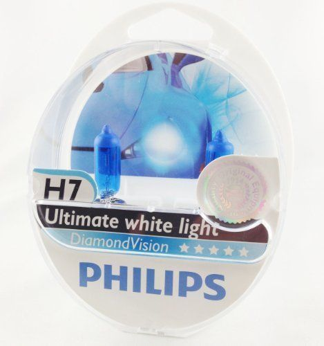 AMPOULES DE PHARE MISE À NIVEAU PHILIPS DIAMOND VISION H7 (PACK 2PCS): L'équivalent le plus proche de HID Xenon, ampoules Philips Diamond…
