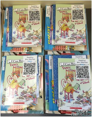 Record teachers reading books aloud and attach to a QR code. Instant Listen to Reading library! Perfect for Daily Five!