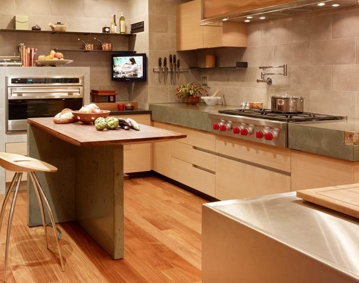Stamped Concrete Kitchens : Images about concrete countertops kitchen islands