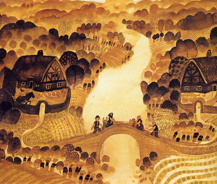 Ilustración de Štěpán Zavřel, (Checoslovaquia, 1932-1999). http://www.yekibud.es/2013/11/18/un-dia-con-javier-zabala/