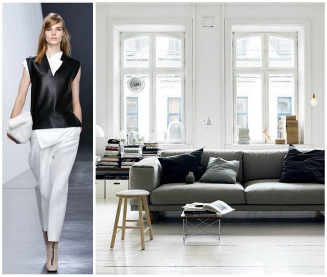 #excll #дизайнинтерьера #решения  Белый, черный, серый…натуральные материалы и ничего лишнего! Чистота пространства радует взгляд.