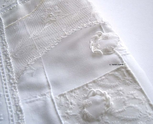 White work embroidery by karen ruane cre ive