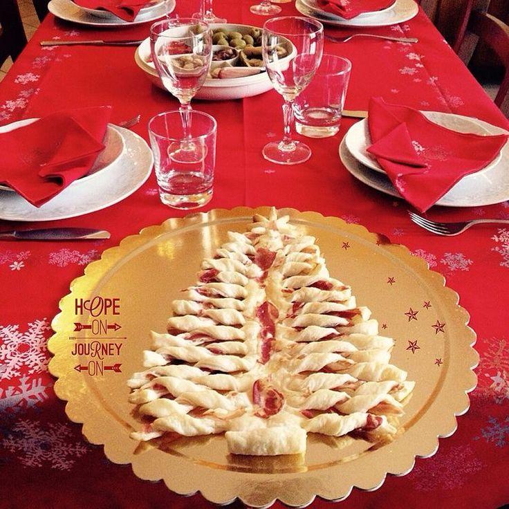 Albero di Natale di pasta sfoglia e pancetta!