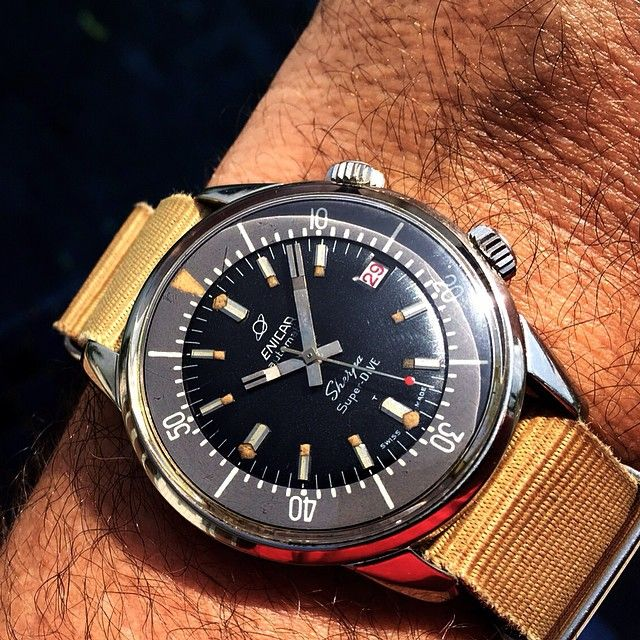 Enicar Sherpa Super Dive - another piece I won't take for a swim, though the EPSA case... | Use Instagram online! Websta is the Best Instagram Web Viewer!
