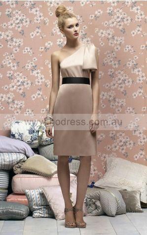 Sheath Sleeveless One Shoulder None Knee-length Evening Dresses evfa307345--Hodress