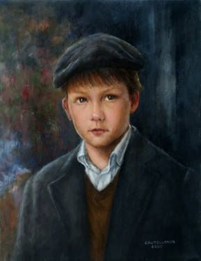 Little Boy Wearing Beret To purchase a reroduction, go to: http://fineartamerica.com/featured/boy-in-beret-sylvia-castellanos.html