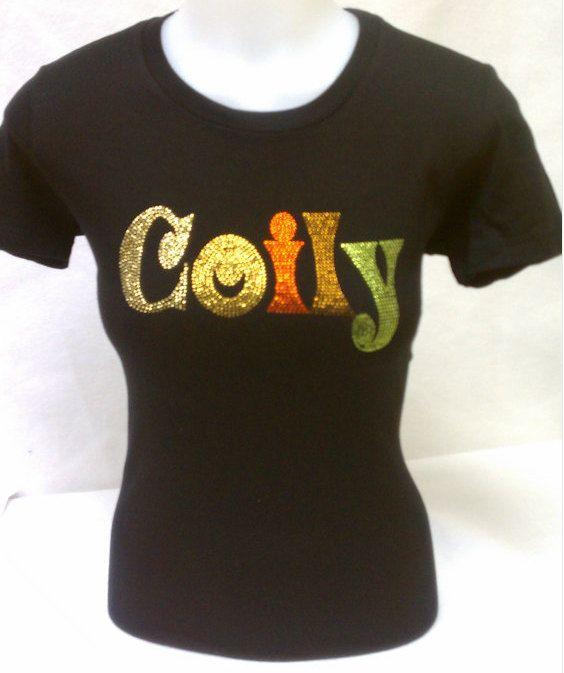 Coily Rhinestone Tshirt Natural Hair