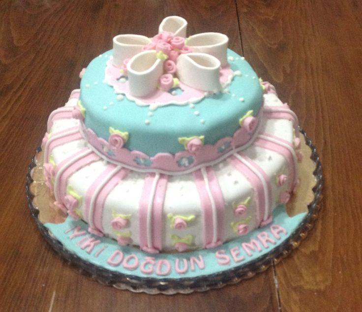 Semra'ya yaptığım doğum günü pastası...