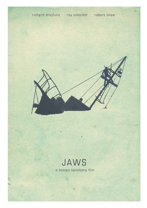 Jaws ... like this a little better than the book cover. And yes, I wouldn't even swim in the POOL when I saw it.