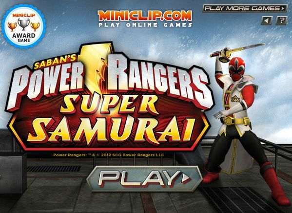 play power rangers super samurai games