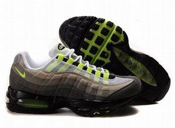 Nike Air Max 95 Mens White Grey Green Trainers UK