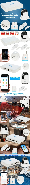 NEO Coolcam Wireless Alarm System IP Camera NVR Alarm Host PIR Sensor Door Sensor Support Phone APP Control For Home Security