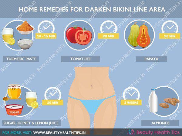 Home remedies for darken bikini line area