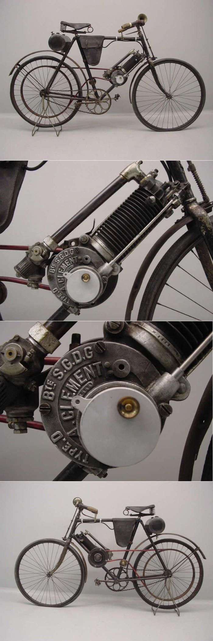 Clement 1904 model D #antique | Shared from http://hikebike.net