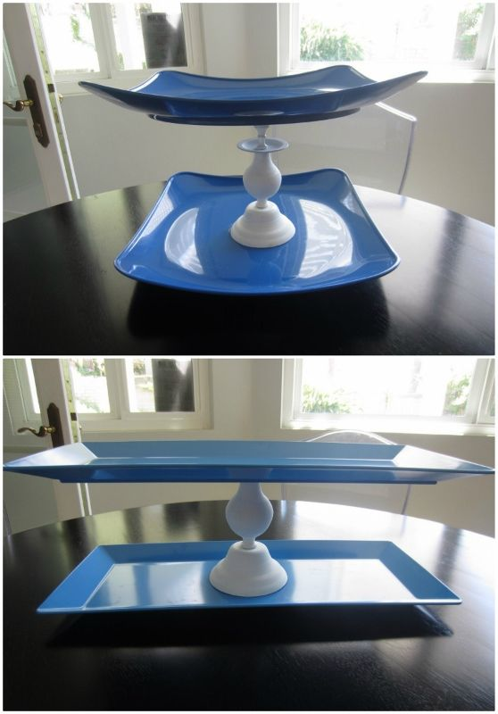 Easy DIY Cupcake Stands from Large Plastic Platters -DIY Inspired