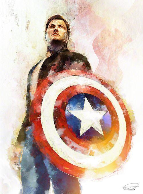Steve Rogers - Captain America by Daniel Scott Gabriel Murray