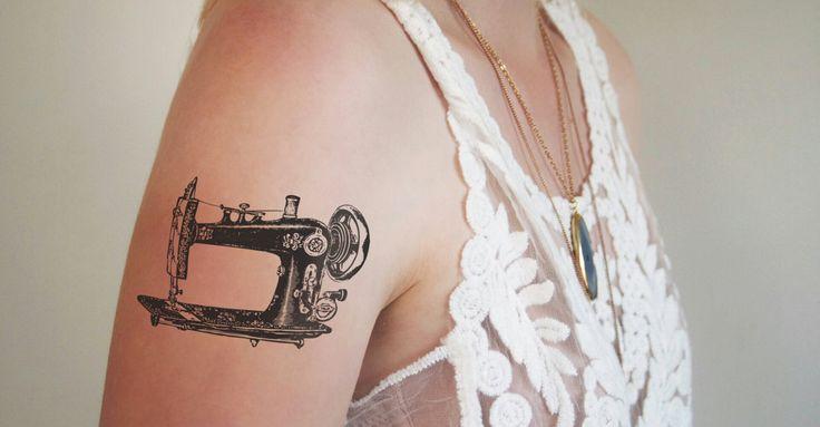 Inspiração de Tatuagem- Máquina de costura