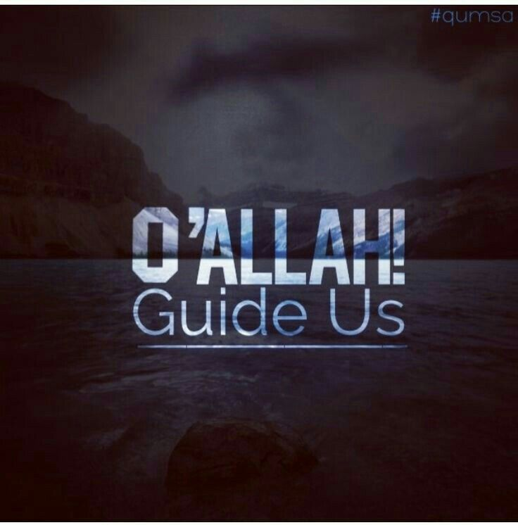 Allah keep us on the straight path ameen.