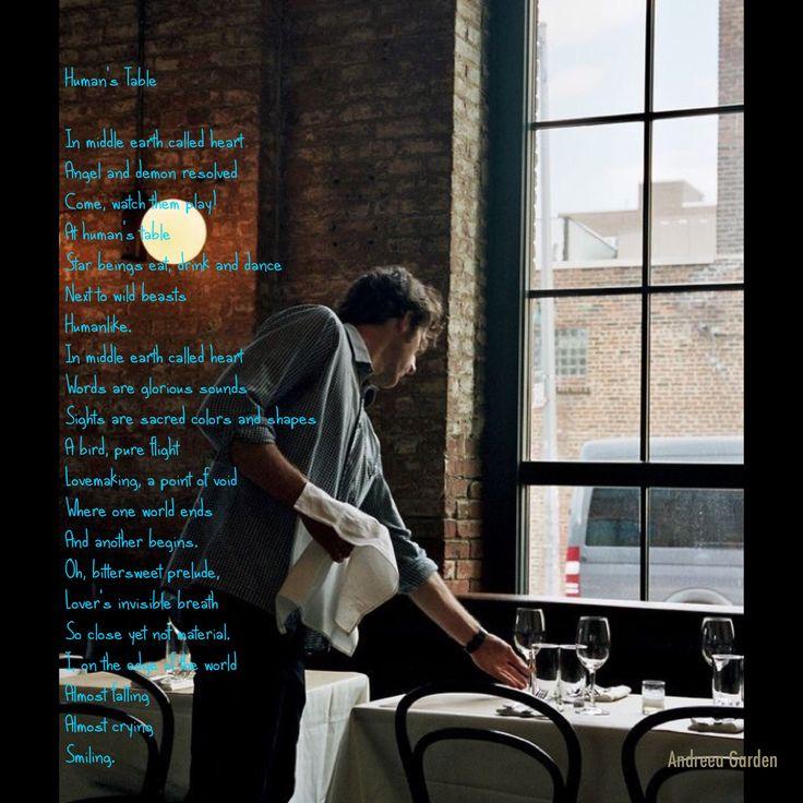 """Human's Table"" poem"