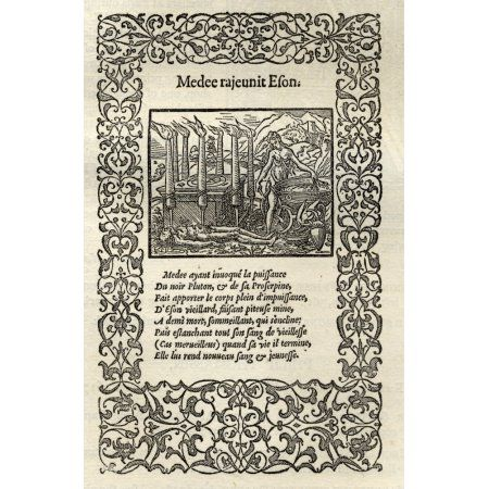 Facsimile Of Ornamented Page By Bernard Salomon From La Metamorphose Dovide Figuree A Lyon Par Jan De Tournes 1557 From A Catalogue Of A Collection Of Engravings Etchings And Woodcuts By Richard Fishe