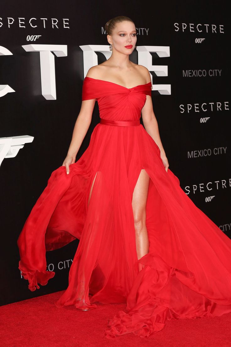 Lea Seydoux What: Miu Miu  Where: Spectre Mexico City Premiere  Why: The French star owns the red carpet, all the while matching it.