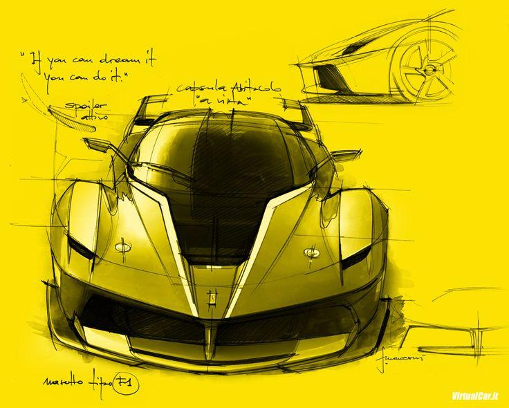 Ferrari FXX K Design Sketch by Flavio Manzoni