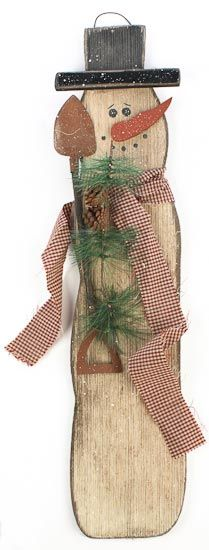 """Wooden Snowman Plaque - WOW 28"""" tall!  Was: $19.99  Now: $14.99"""