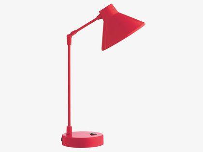 BOBBY REDS Metal Red metal desk lamp - HabitatUK