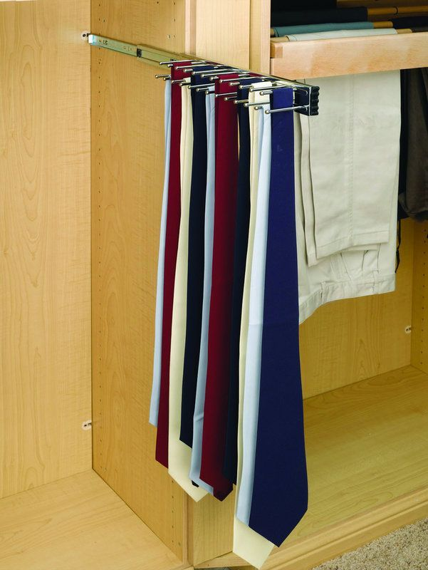 Rev-A-Shelf TRC-14 TRC Series Pull Out Tie Rack for Up to 25 Ties