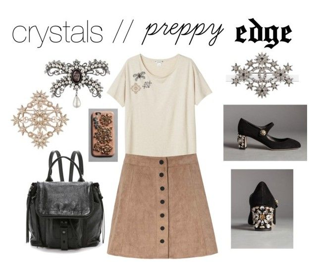 """""""crystals  //  p r e p p y  EDGE"""" by radianceluster ❤ liked on Polyvore featuring moda, Monki, Dolce&Gabbana, Glamorous, Chanel, Botkier y crystaljewelry"""