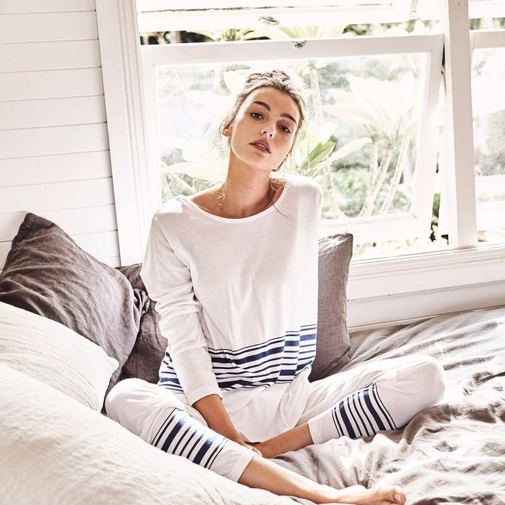 Hammam kis lounge pj set #breton #cotton-modal-knit #cotton-modal-pjs