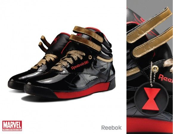 Black Widow: Reebok and Marvel: Black Widow, Geek, Cute Shoes, Limited Editing, Comic, Marvel Shoes, Marvel Character, Behance Network, Design